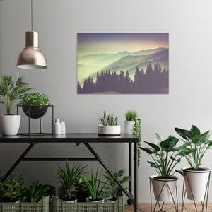 Obraz na plátně OrangeWallz Misty Mountain, 60 x 90 cm