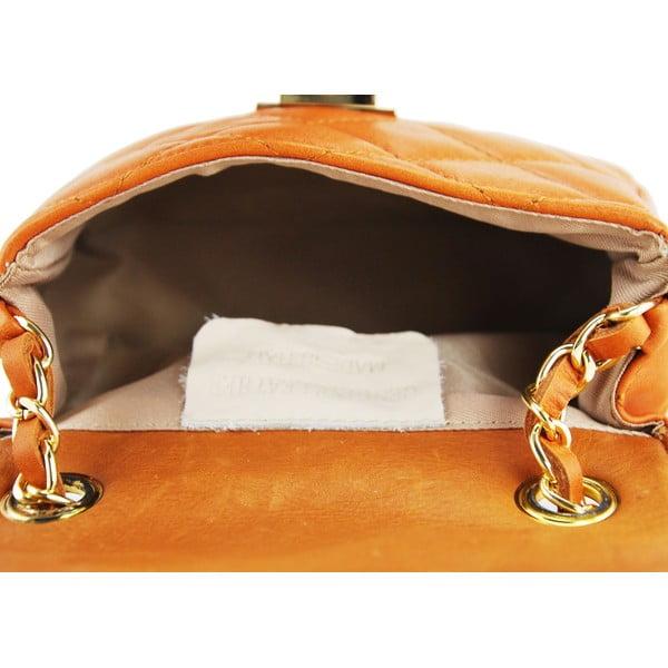 Kožená kabelka Custina Cognac