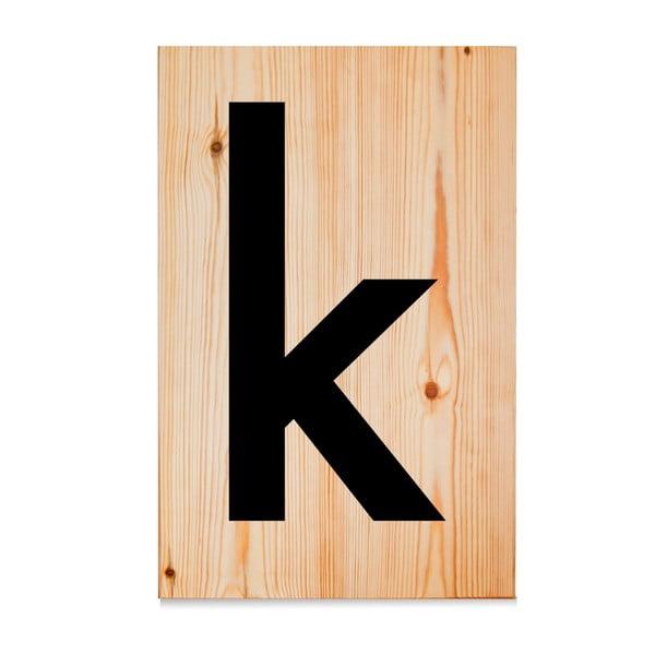 Dřevěná cedule Letters K