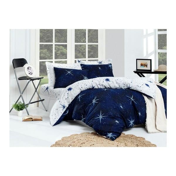 Lenjerie din bumbac pentru pat de o persoană Puresso Navo, 140 x 200 cm