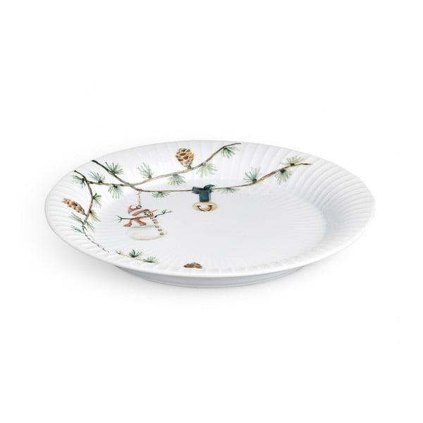 Farfurie din porțelan pentru Crăciun Kähler Design Hammershoi Christmas Plate, ⌀ 22 cm