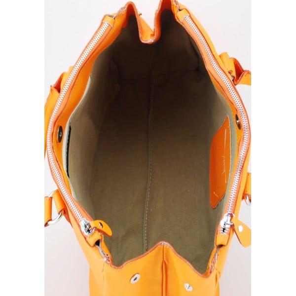 Kožená kabelka Alta Arancio
