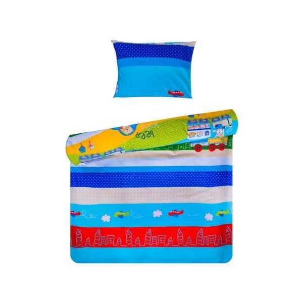 Set povlečení Home de Bleu 100x150 cm, Beep Blue