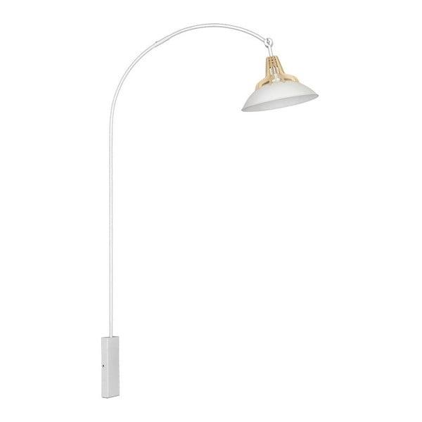 Bílé nástěnné svítidlo Lilus
