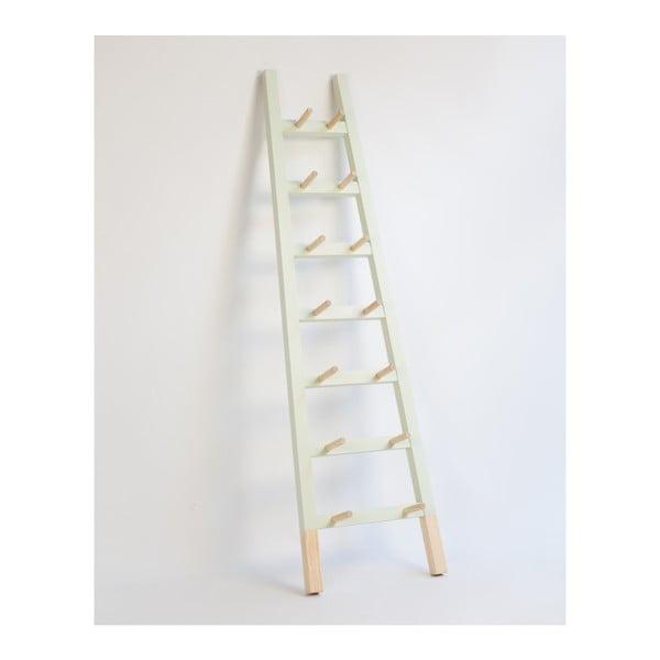 Světle zelený odkládací dekorativní žebřík z borovicového dřeva Surdic Verde Claro