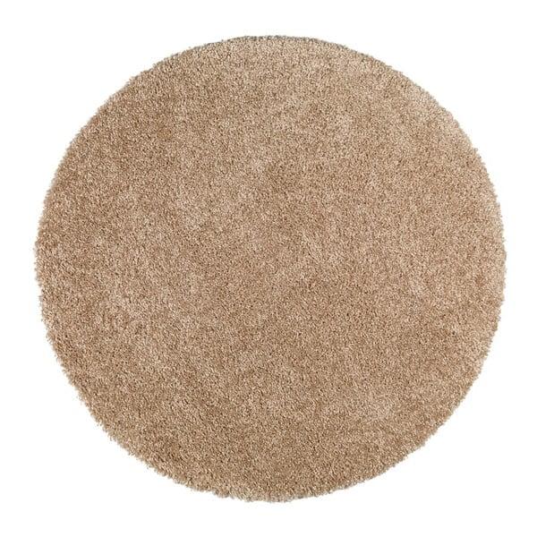 Aqua Liso világosbarna szőnyeg, ⌀ 80 cm - Universal