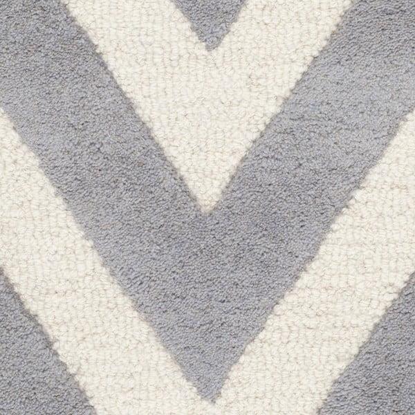 Vlněný koberec Stella Grey, 76x243 cm