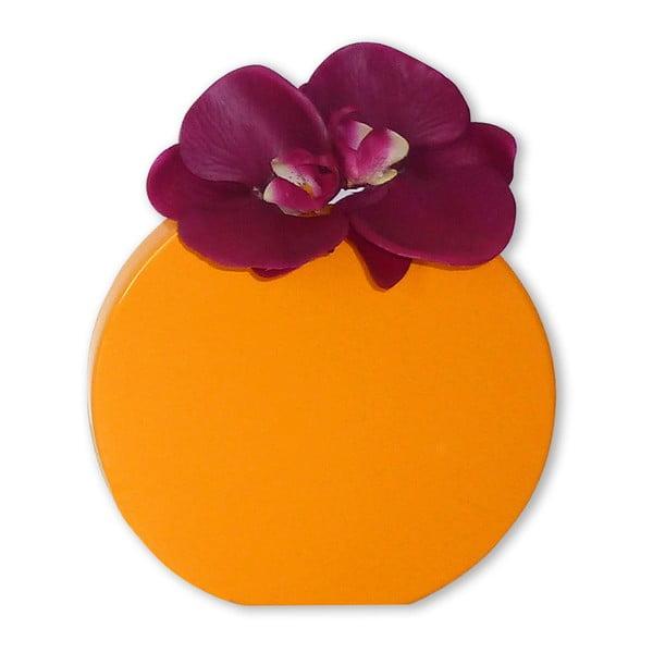 Nástěnná váza Vanity Round Yellow