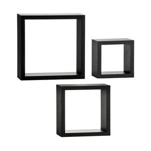 Nástěnné poličky Cubes Black