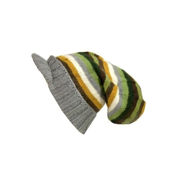 Vlněná čepice s kšiltem Bob Marley