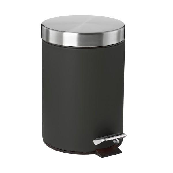 Coș de gunoi cu pedală Zone Confetti, 3 l, negru