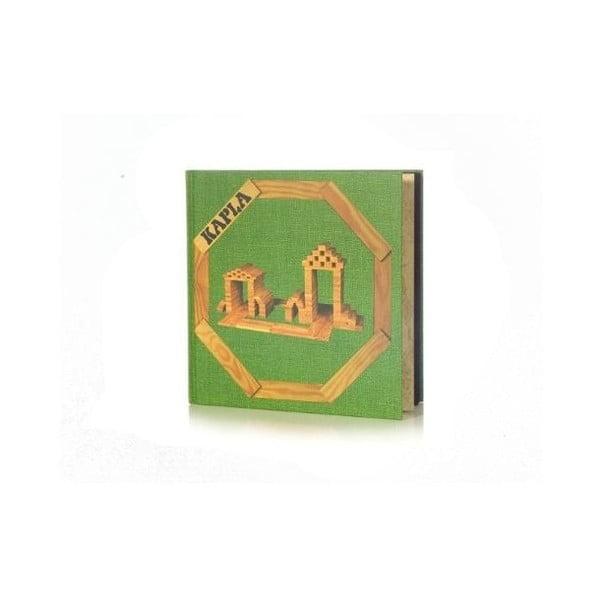 Dřevěná stavebnice Kapla se zelenou knížkou, 280 ks