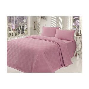 Lehký přehoz přes postel Kare Orgu Dusty Rose, 200x234cm