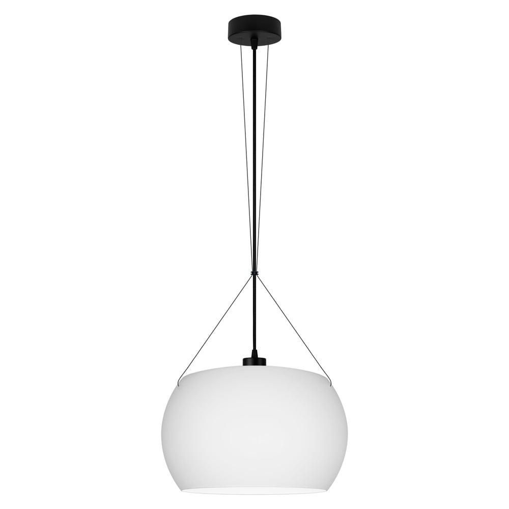 Bílé matné závěsné svítidlo s černým kabelem Sotto Luce Momo Elementary, ⌀33cm