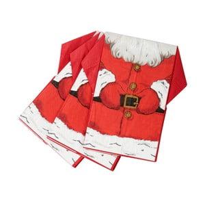 Sada 16 papírových ubrousků Talking tables Sparkling Santa