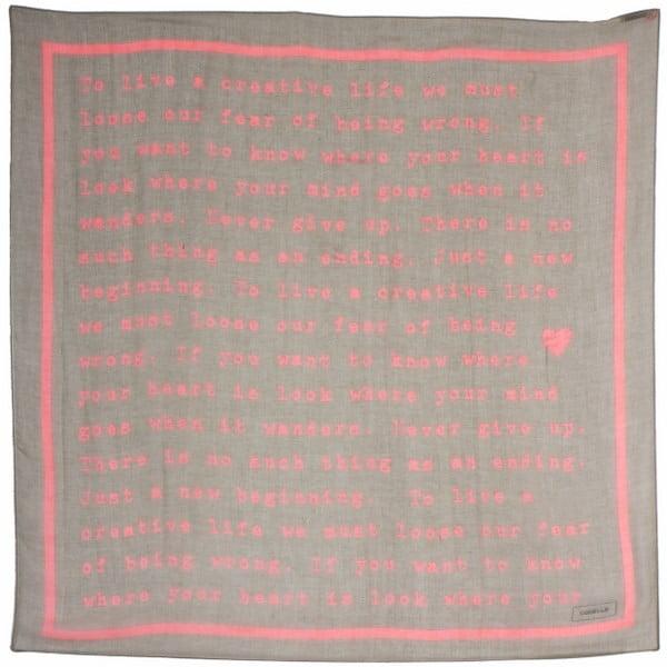 Šátek Poetry Grunge Pastel