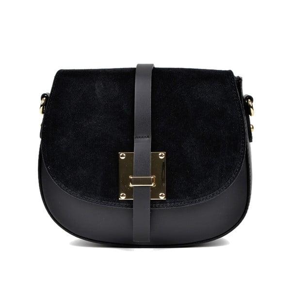 Černá kožená kabelka Sofia Cardoni Claudia