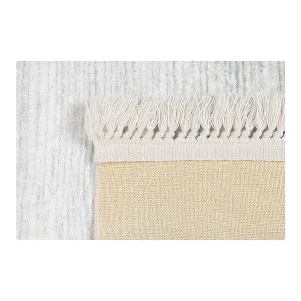 Sametový koberec Deri Dijital Kaluna Grey, 80x150cm