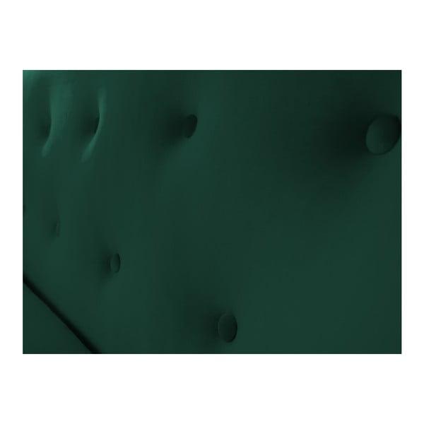 Zelená dvoumístná pohovka s černými nohami Mazzini Sofas Amelie