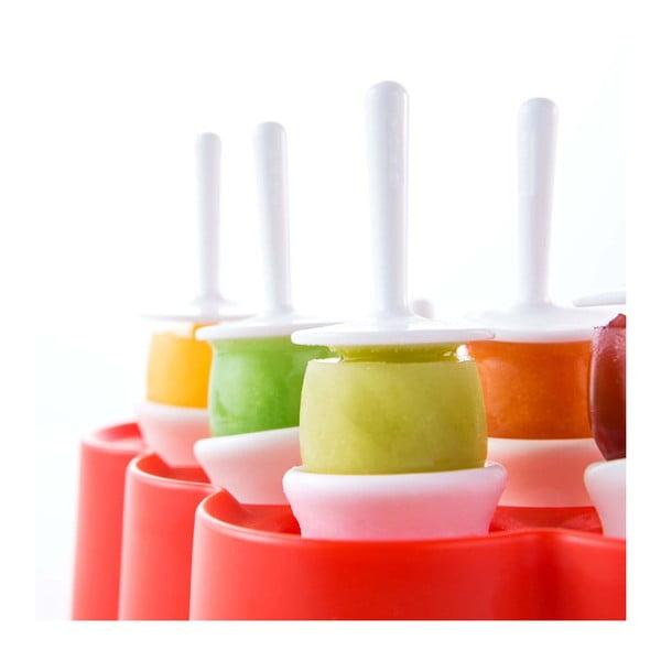 Červená forma na 9 malých nanuků ZOKU Mini Pop
