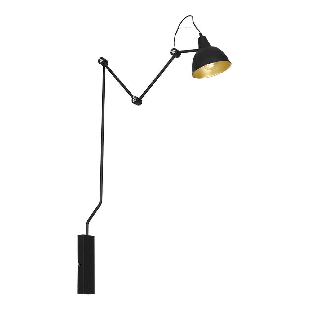 Černé nástěnné svítidlo Glimte Sconce Bibi Aida Joint Medium Black Uno