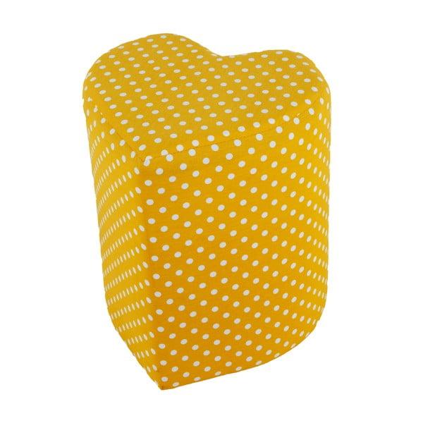 Puf ve tvaru srdce Seya, žlutý