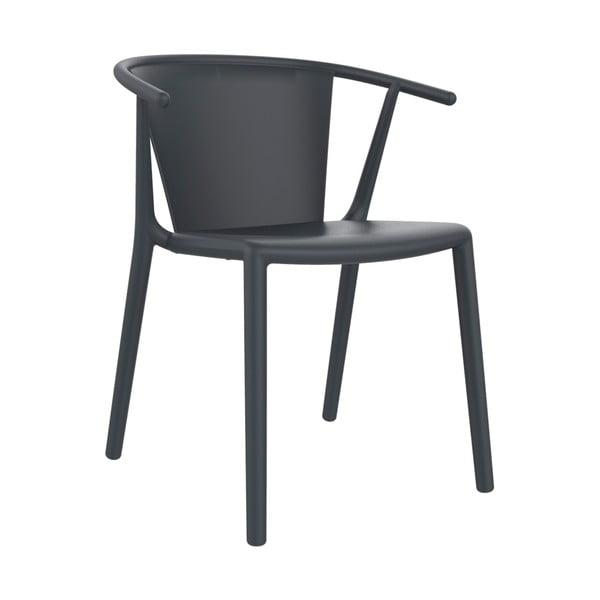 Set 2 scaune de grădină Resol Steely, gri închis