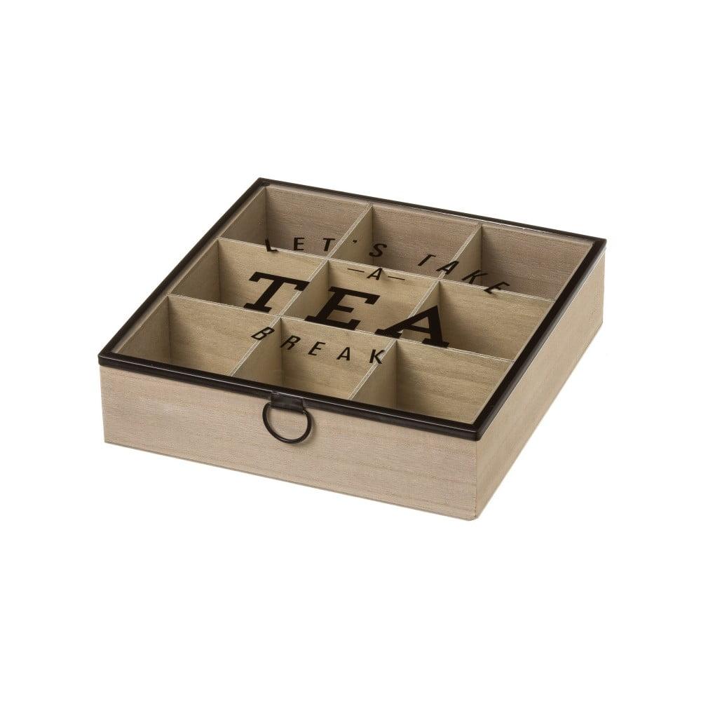 Úložný box na čaj ze dřeva Unimasa, 24 x 6,5 cm