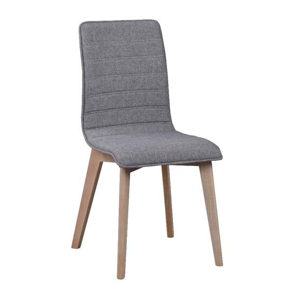 Šedá jídelní židle se světle šedými nohami Rowico Grace