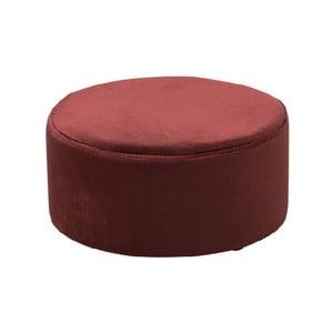 Červený puf J-Line Velvety