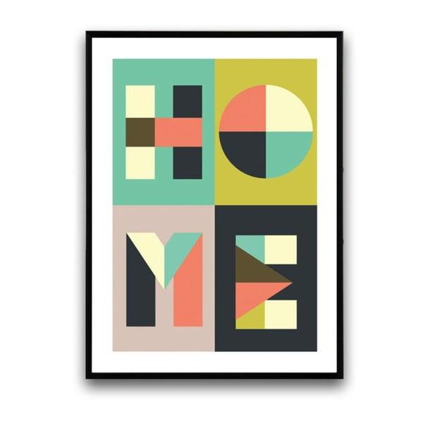 Plakát v dřevěném rámu Rheum, 38x28 cm