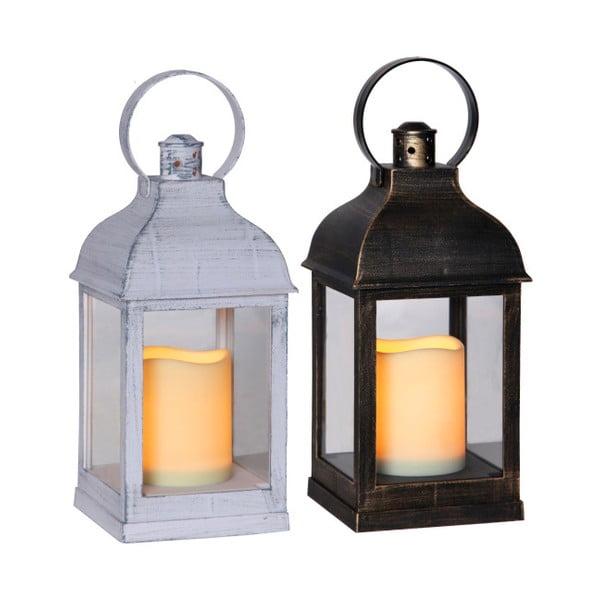 Sada šesti LED luceren v bílé a černé barvě