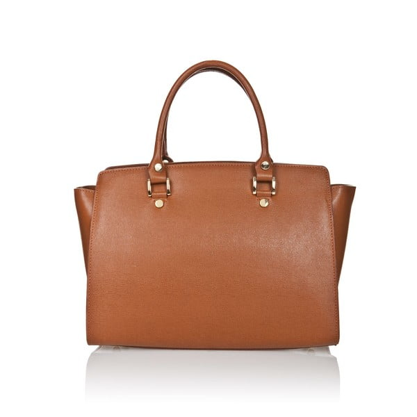 Kožená kabelka Markese 2391 Cognac