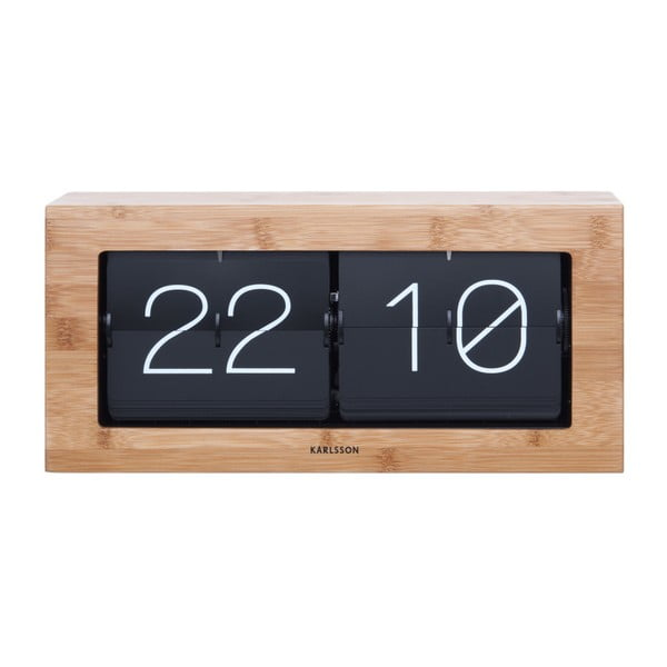 Ceas Karlsson Flip, 37 x 17,5 cm, decor lemn