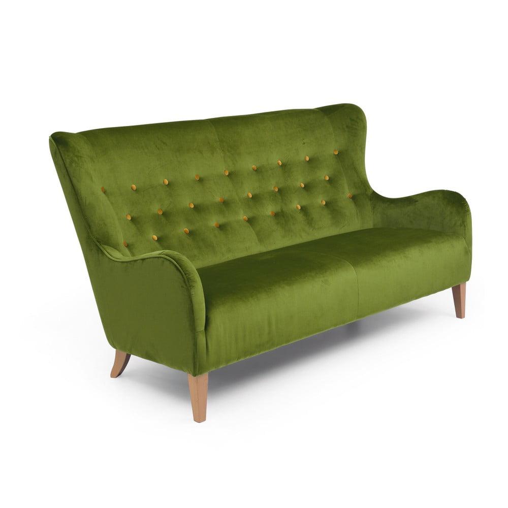 Zelená trojmístná pohovka Max Winzer Medina