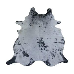 Covor din piele de vacă, 231 x 194 cm, gri
