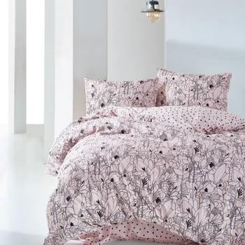 Lenjerie de pat din bumbac cu cearșaf Bradshaw, 160 x 220 cm