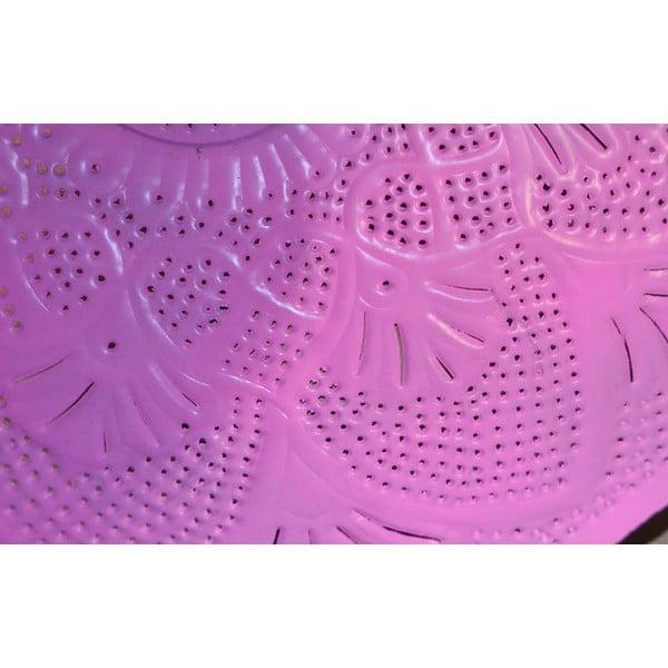 Mosazné stínítko Rajastan, stříbrno-růžový spodek