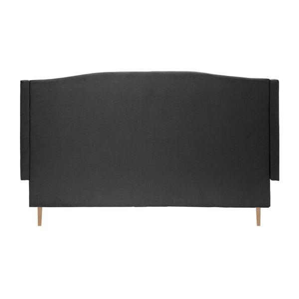 Černá postel s přírodními nohami Vivonita Windsor,140x200cm
