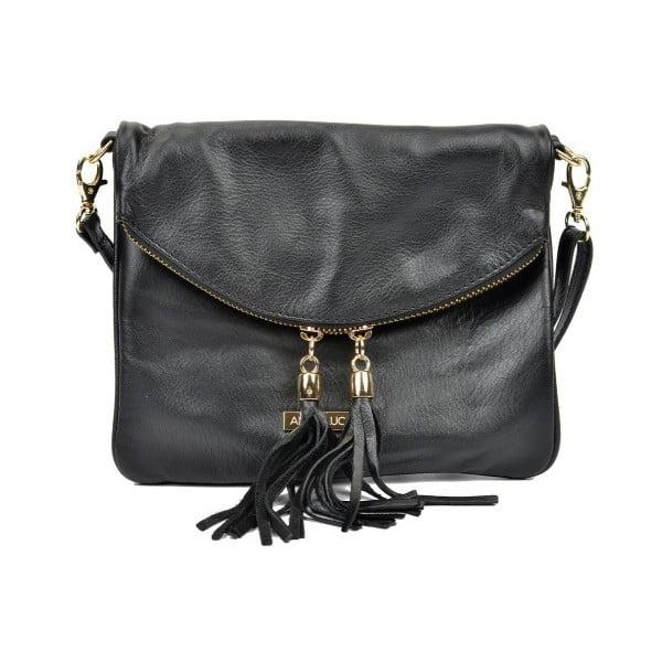 Černá kožená kabelka Anna Luchini Pasado