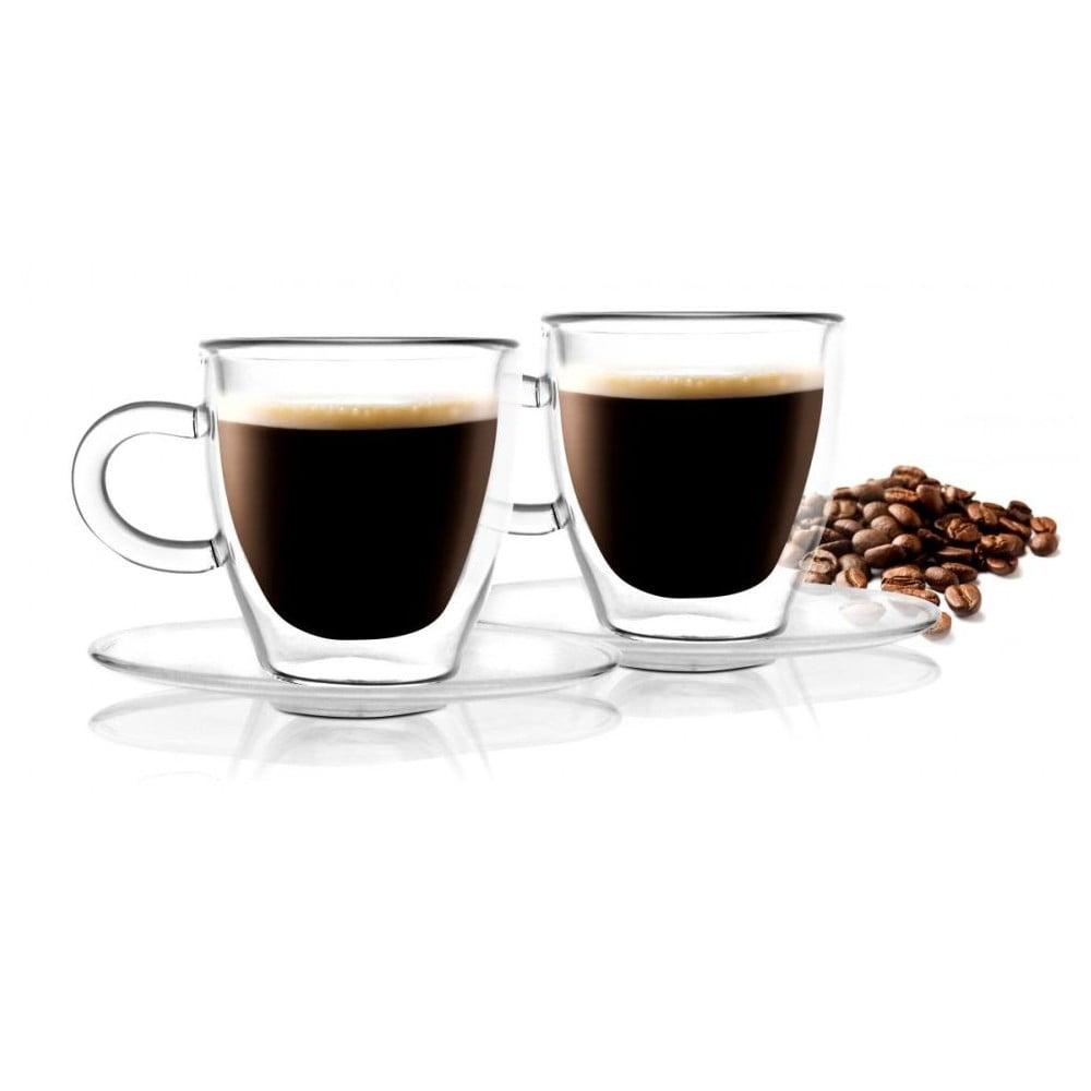 Sada 2 dvojitých hrnků Vialli Design Amo Espresso, 50 ml