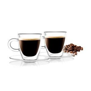 Set 2 cești cu pereți dubli Vialli Design Amo Espresso, 50 ml