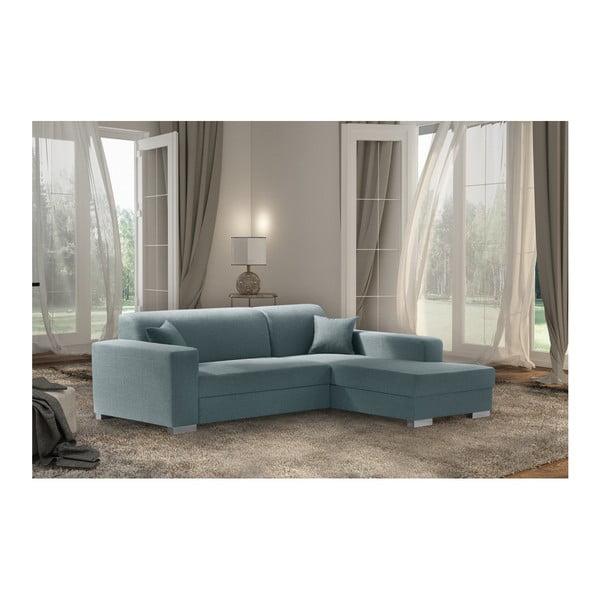 Mentolově modrá sedačka Interieur De Famille Paris Bijou, pravý roh