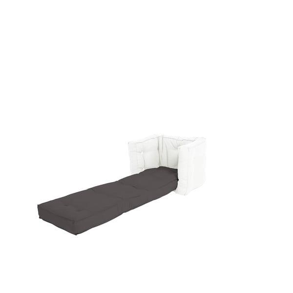Dětské rozkládací křesílko Karup Design Mini Dice Dark Grey/Creamy