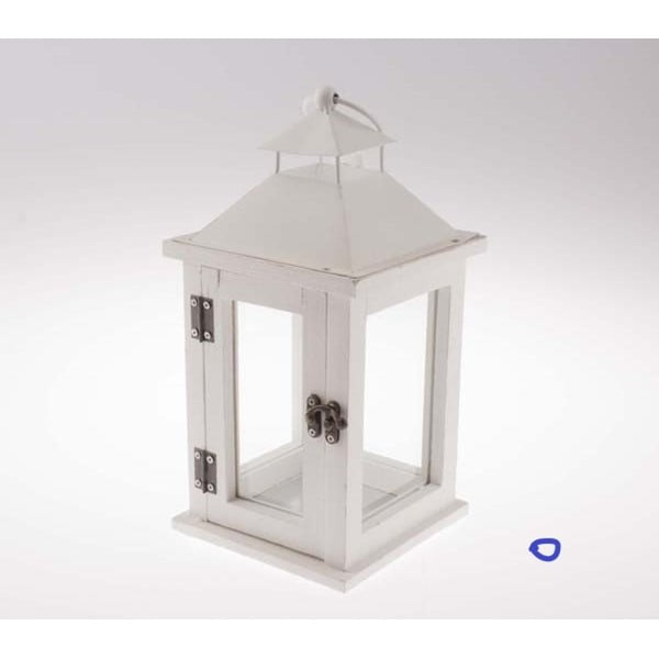 Biely drevený lampáš Dakls Wonderland