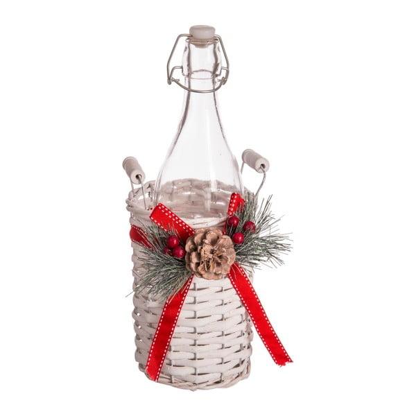 Sticlă cu coș de depozitare Unimasa Christmas