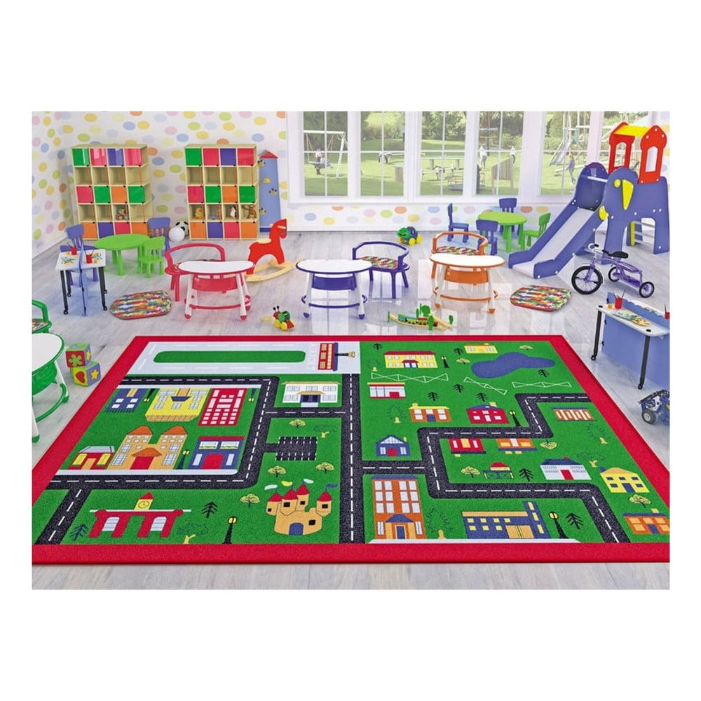 Dětský koberec Town, 100 x 150 cm