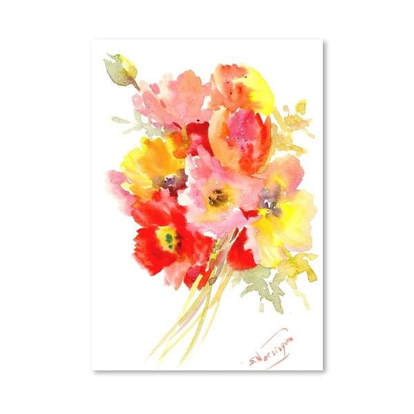 Plakát Red Flowers od Suren Nersisyan