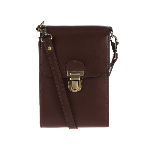Dámská kožená taška Artemis Cognac Mini Travel