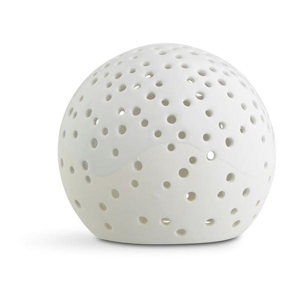 Bílý vánoční svícen z kostního porcelánu Kähler Design Nobili, ⌀ 14 cm